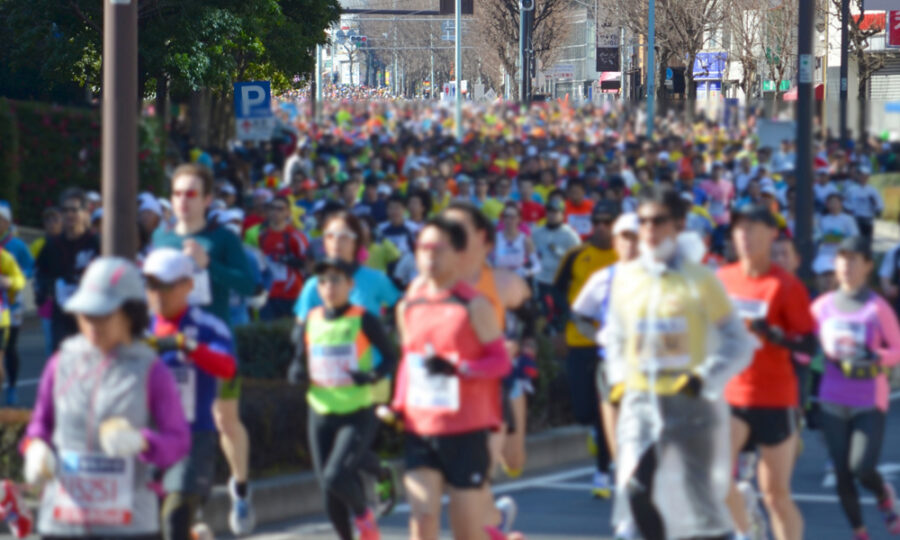 マラソン大会のCM